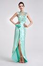 eDressit Green High Neck Slit Ball Party Long Dress (02190704)