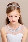 eDressit Silver Beads Girl Headwear Hair Hoop (13191726)