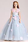 eDressit Light Blue Handmade Wedding Flower Girl Party Dress (27202308)