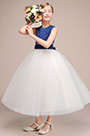 eDressit Lovely Long Flower Girl Dress With Spot Blue Top (27192305)