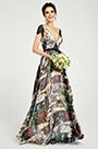eDressit Deep V-Cut Cap Sleeves Floral Print Party Dress (00191068)