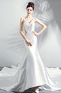 eDressit Sexy V-Cut Sheer Back Long Train Party Wedding Dress (36202207)