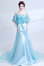eDressit Blue Cape Top Mermaid Skirt Party Prom Ball Dress (36212432)