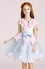 eDressit Light Blue Cute Handmade Wedding Flower Girl Party Dress (28194905)