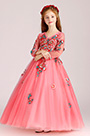 eDressit Coral Embroidery Long Sleeves Wedding Flower Girl Party Dress (27202457)