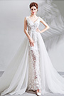 eDressit Sexy V-Cut Lace Tulle Long Formal Wedding Bridal Dress (36205407)