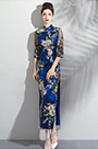 eDressit Blue High Neck Print Embroidery Party Ball Dress (36200305)