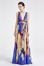 075dedce79b5d eDressit Sexy Plunging V-Cut Blue Print Floral Prom Ball Dress (00183168N)