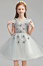 eDressit Lovely Grey Short Wedding Flower Girl Dress (28194408)