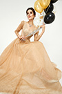 eDressit New Fashion Gold-Brown Shiny Formal Evening Dress (02190909)