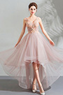 eDressit Pink V-Cut Embroidery Long Party Evening Dress (36191301)