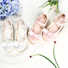 Girl's Round Toe Leather Flat Flower Girl Dance Shoe (250051)