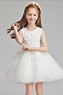 eDressit White Tulle Short Sleeves Wedding Flower Girl Party Dress (28196007)