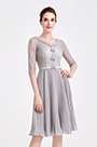 eDressit Grey Doll Collar Lace Pleated Skirt Party Dress (04190808)