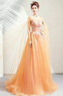 eDressit Orange Elegant Long Tulle Bride Wedding Dress (36197524)