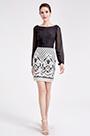 eDressit Black &White Chiffon Lace Blouse Suit Dress (03190200)