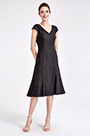eDressit Black V-Cut Simple Party Mother of Bride Dress (26190700)