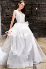 eDressit White Lace Applique Layer Tulle Women Wedding Dress (36218607)