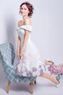 eDressit White Off Shoulder Floral Cocktail Party Dress (35196107)