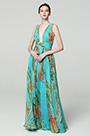 eDressit Green V-Cut Strap Print Floral Prom PartyDress (00183168H)