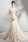 eDressit Light Champagne Floral Party Wedding Dress (36191514)