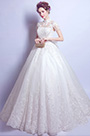 eDressit New High Neck Cap Sleeves Elegant Bridal Wedding Dress (36196607)