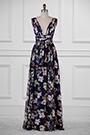 eDressit Plunging V-Cut Strap Print Floral Evening Dress(00183168C)