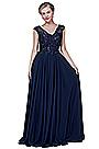 eDressit Sexy Blue V-Cut Chiffon Elegant Prom Evening Dress (02192605)