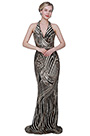 eDressit New Shiny Halter Zebra Pattern Sequins Party Ball Dress (02193924)
