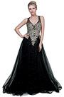 eDressit New Black&Gold V-Cut Tulle Formal Party Gown Dress (02191800)