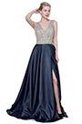 eDressit New Shiny Beaded V-Cut High Slit Party Ball Dress (02192505)