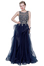 eDressit Blue Illusion Neck Lace Applique Tulle Party Ball Dress (02193005)