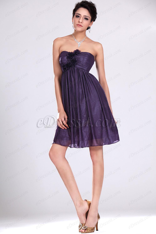 Фиолетовое платье для свидетельницы