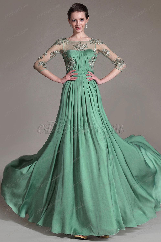 Платье зеленое фатин