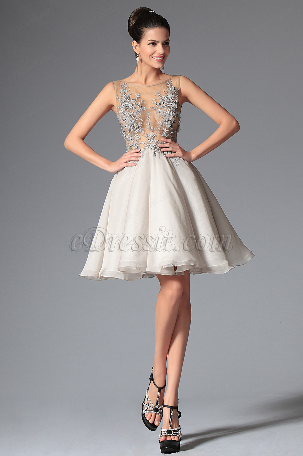 eDressit Round Neckline Tulle Cocktail Dress Party Dress (04146132)