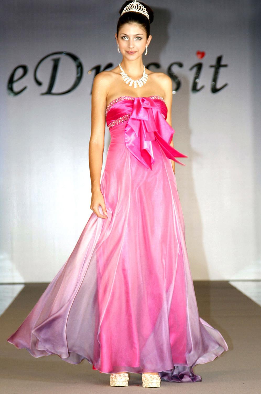 eDressit Elegant trägerlos Diamanten und Perlen Abendkleid (00098901)