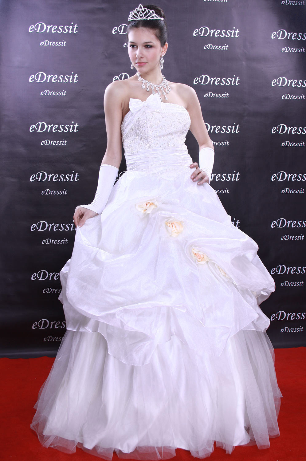 Christmas Discount 50% Off eDressit White Prom Gown Evening Wedding Dress (01090507)