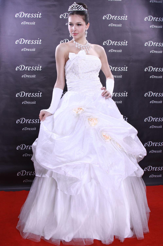 eDressit Weiss Abendkleid Ballkleid Prom Hochzeit(Maßanfertigung) (01090507)