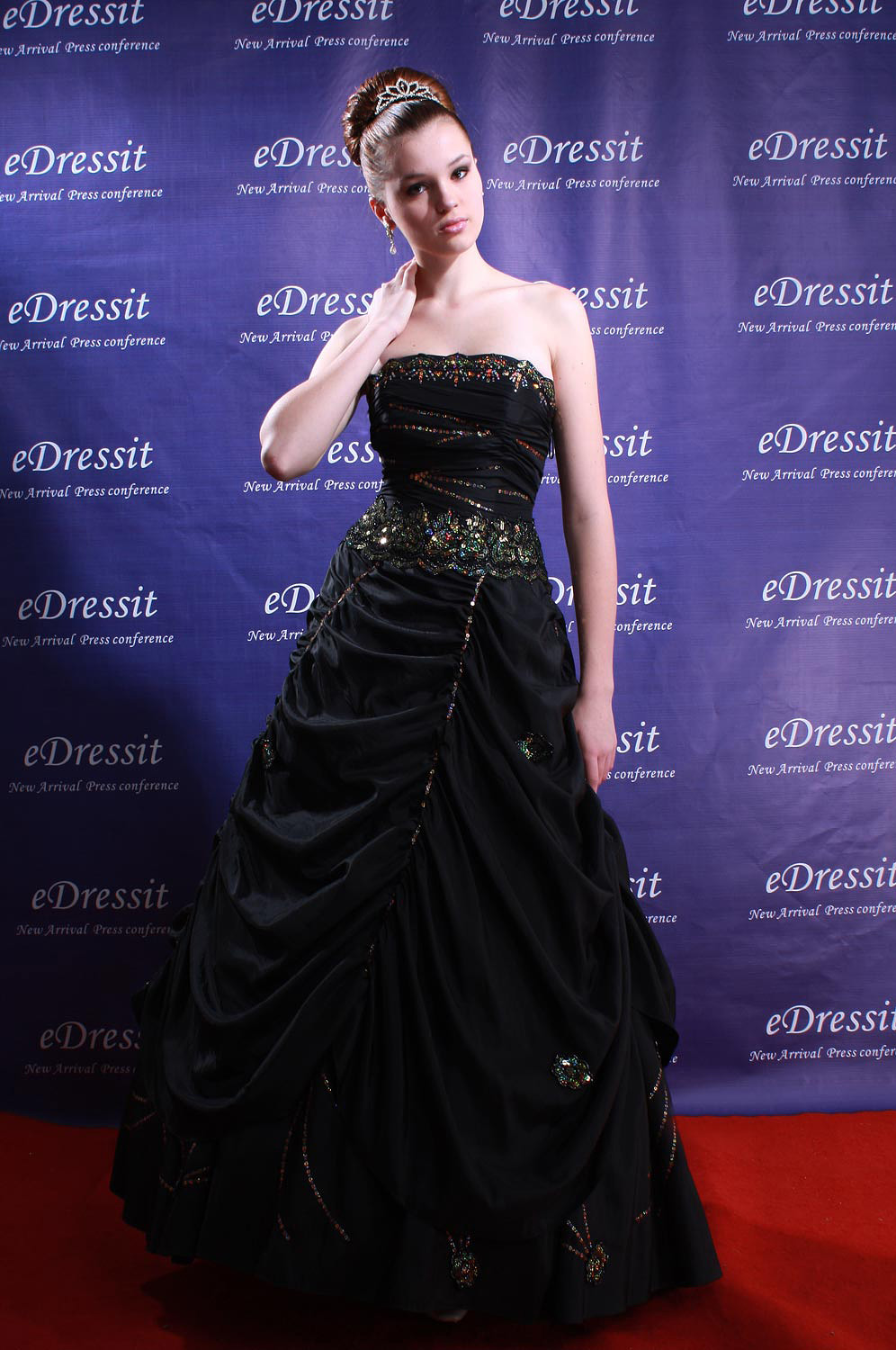 eDressit Black Luxurious Evening Dress (01772100)