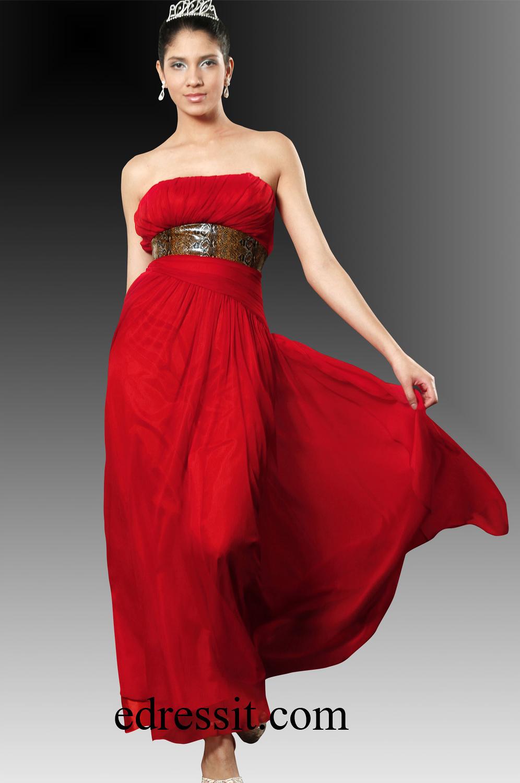 eDressit Sexy Rot Abendkleid Ball kleid (00100702)