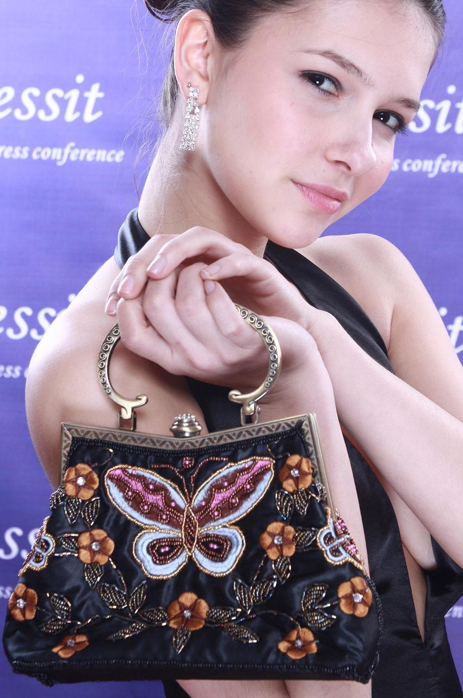eDressit Cequís de Forma de Mariposa Maletín Bolsa de Mujer (08091100)