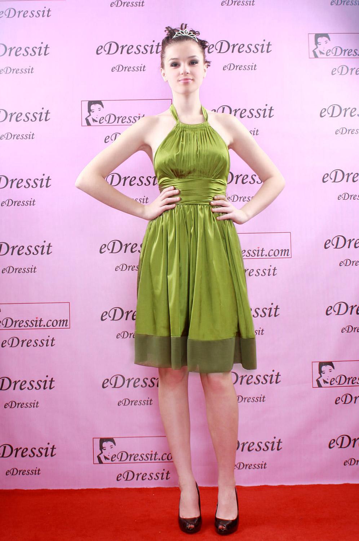 eDressit Verde Vestido de Cóctel de Dama de Honor (04080155)