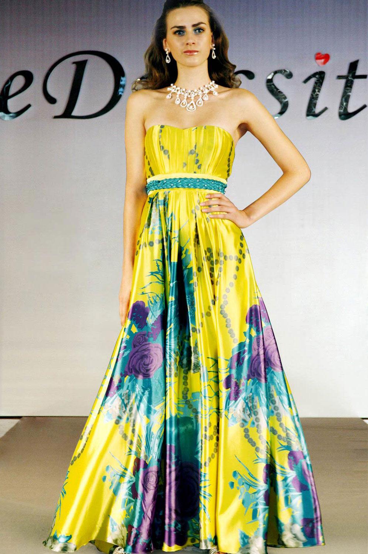 eDressit Stylish Strapless Floral Party Dress (00094868s)