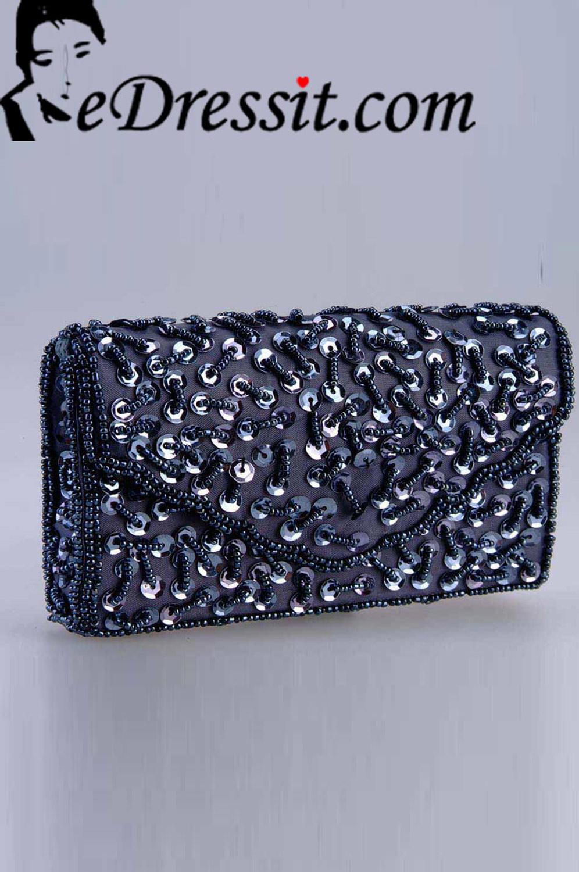 eDressit Graue Frauen-Handtasche/Portemonnaie (08140508)