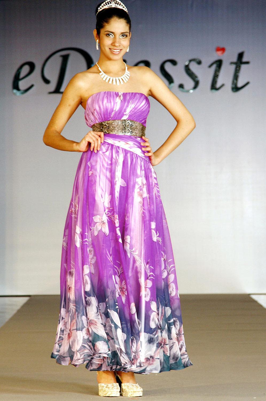eDressit сексуальное  цветочное вечернее платье без бретелек (00100768)