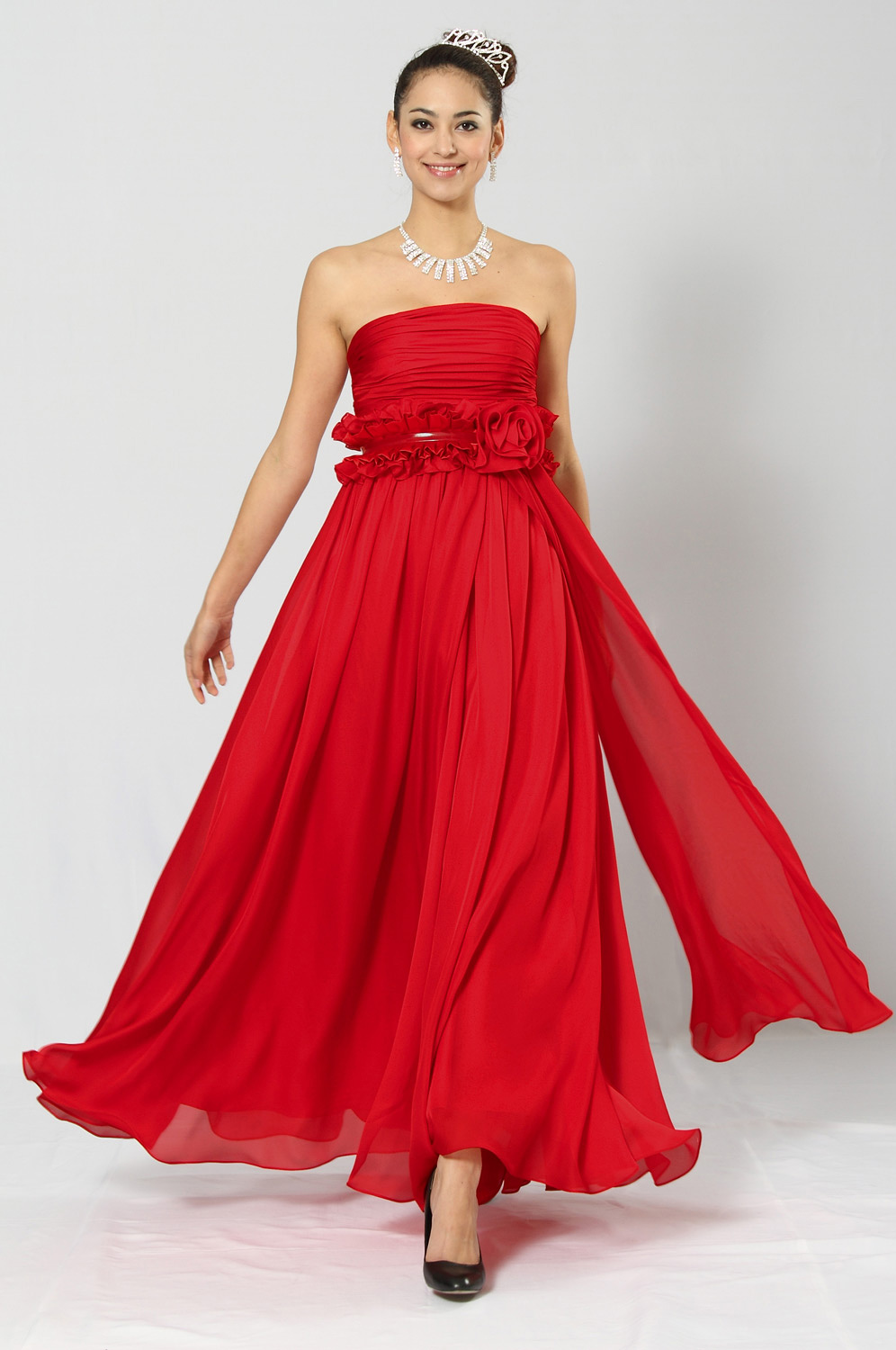 eDressit Amazing Red Strapless Evening Gown (00102302)