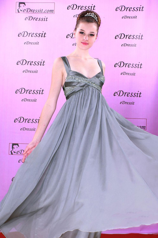 eDressit Robe de Soirée Sexy V-col Gris (00082308)