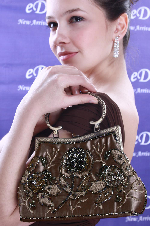 eDressit Gorgeous Red Lady's Handbag/Purse (08091299)