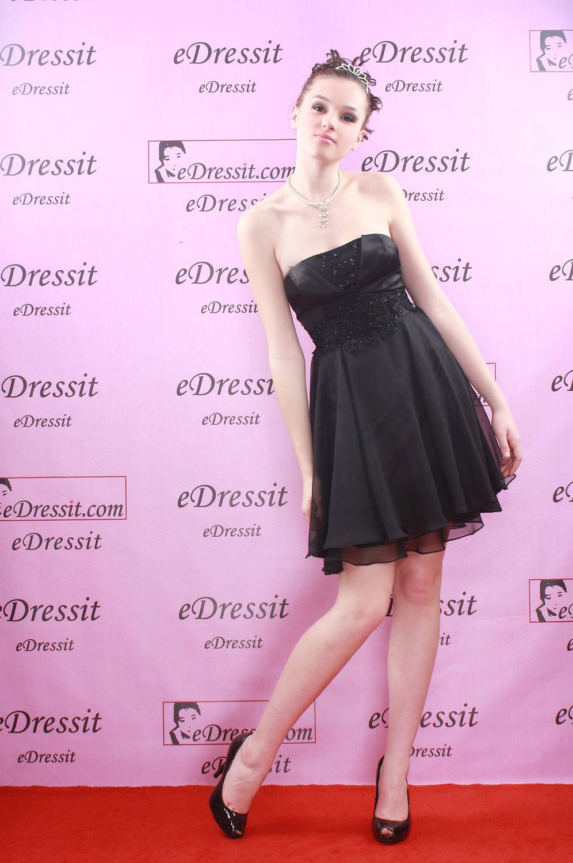 eDressit New Black Cocktail Party Dress Skirt (04081000)