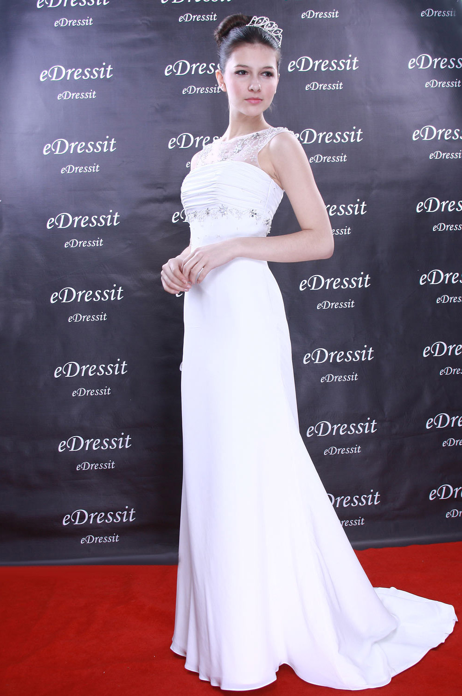 eDressit Weiss Abendkleid Ballkleid Prom Hochzeit(Maßanfertigung) (01091007)
